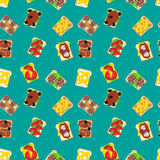 Sandwiches seamless pattern Royalty Free Stock Photos