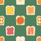 Sandwiches. Vector illustration. Sandwiches. Seamless vector pattern. Illustration Stock Photo