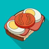 Sandwiches, single icon in flat style.Sandwiches, vector symbol stock illustration web. Sandwiches, single icon in flat style.Sandwiches, vector symbol stock Stock Image