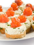 Sandwiches with smoked trout Stock Photography