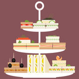 Sandwiches stand Royalty Free Stock Photos