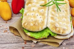 Sandwiches on the table Stock Photos