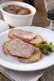 Sandwiches with terrine Stock Image