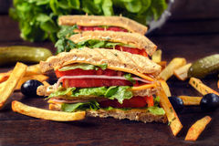 Sandwiches time Stock Photography