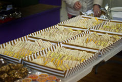 Sandwiches in tray Stock Image