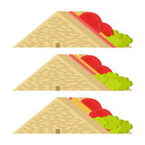 Sandwiches Vector and Icon. Sandwiches Design Vector and Icon Royalty Free Stock Photography