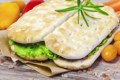 Sandwiches with vegetables Royalty Free Stock Images