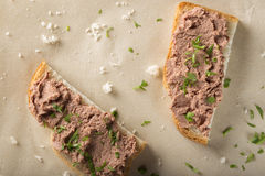 Sandwiches With Meat Pate Royalty Free Stock Photo