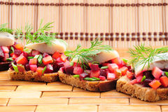 Sandwiches With Rye Bread, Stock Images