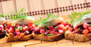 Sandwiches With Rye Bread, Royalty Free Stock Image