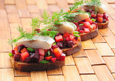 Sandwiches With Rye Bread, Stock Image