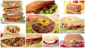 Sandwichessamenstelling stock video