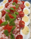 Sandwichgateau met zeevruchten Royalty-vrije Stock Fotografie
