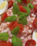 Sandwichgateau met zeevruchten Stock Fotografie