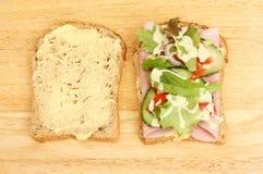 Sandwichhälften Stockbilder