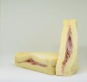 Sandwichham, kaas stock afbeeldingen