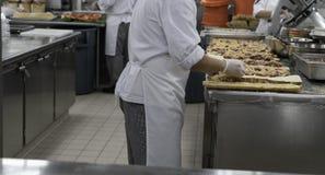 Sandwichherstellung stockbild