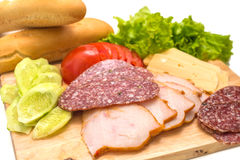 Sandwichingrediënten Royalty-vrije Stock Foto