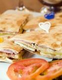 SandwichLimassol Zypern pita Brot Lizenzfreies Stockfoto