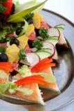 Sandwichmehrlagenplatte Stockfoto