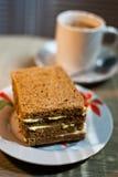 Sandwichontbijt Stock Afbeeldingen