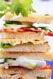 Sandwichs à club Image stock