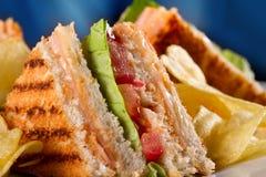 Sandwichs à club Images stock