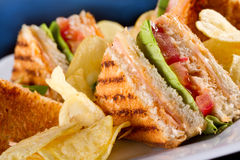 Sandwichs à club Photo libre de droits
