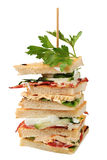 Sandwichs à club Photo stock