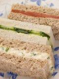 Sandwichs à doigt de thé d'après-midi Photographie stock