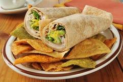 Sandwichs à enveloppe de la Turquie image stock