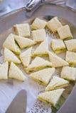 Sandwichs à salade de poulet de réception de mariage Photo libre de droits