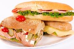 Sandwichs är klar Arkivfoton