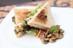 Sandwichs avec des saumons Photo libre de droits
