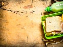 Sandwichs avec du jambon et le fromage Images stock