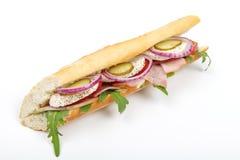 Sandwichs avec du jambon et le mozzarella de tomate Photographie stock libre de droits