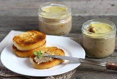 Sandwichs avec le pâté Photographie stock libre de droits