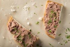 Sandwichs avec le pâté de viande photo libre de droits