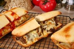 Sandwichs chauds à épicerie images libres de droits