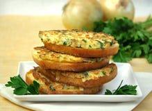 Sandwichs chauds aux oignons Images libres de droits