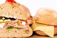 Sandwichs de plan rapproché Images stock