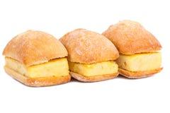Sandwichs de tortilla espagnole sur le blanc Image libre de droits