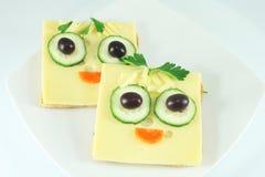 Sandwichs drôles Photographie stock libre de droits