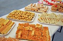 Sandwichs et biscuits photographie stock libre de droits