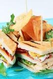 Sandwichs et chips Photographie stock libre de droits