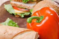 Sandwichs et légume Nourriture Nourriture fraîche et saine Concept Photo stock