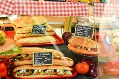 Sandwichs français Photo stock