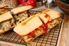 Sandwichs grillés à épicerie images libres de droits