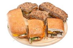 Sandwichs grillés à aubergine et à poivre photographie stock