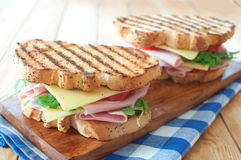 Sandwichs grillés Images libres de droits